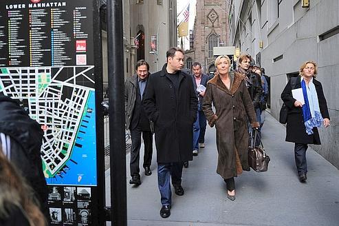 Marine Le Pen dans les rues de New York