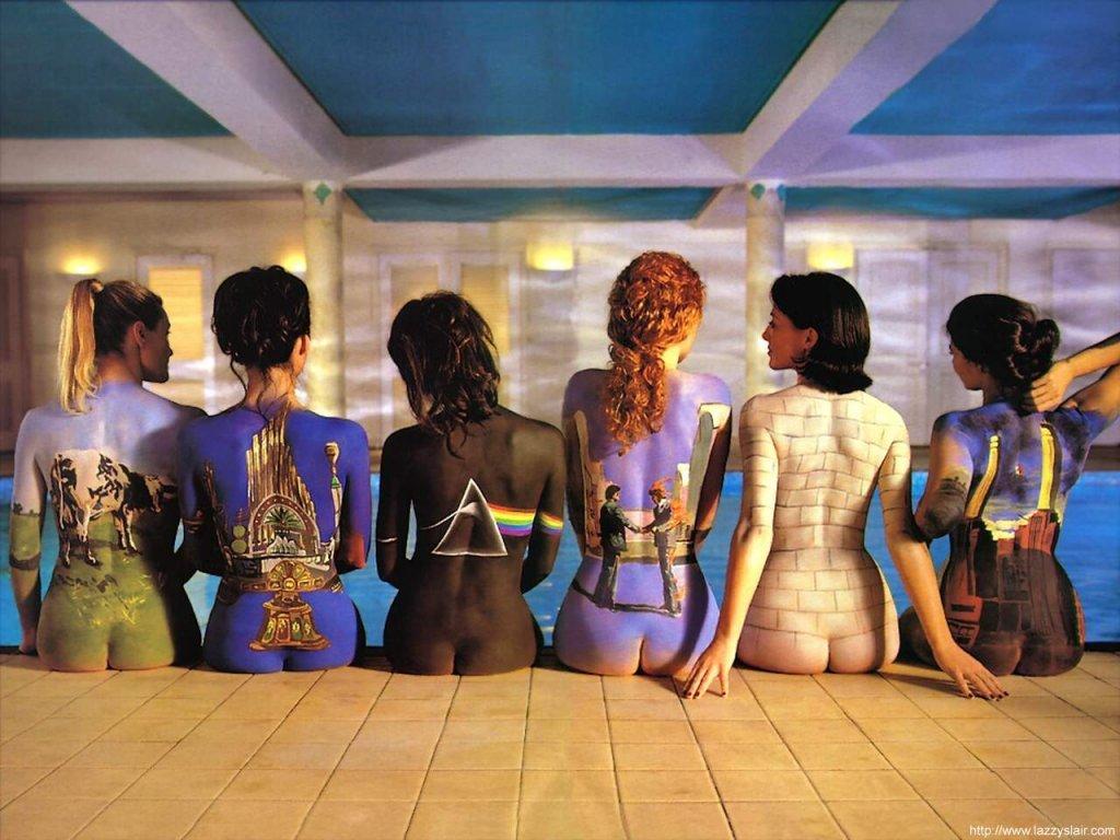 Pochette Pink Floyd - Femmes peintes