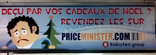 Publicité Métro Price Minister Noël 2011