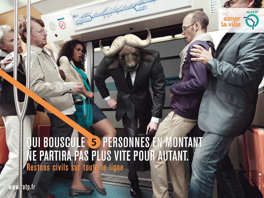 Campagne RATP et Publicis Conseil - Le buffle