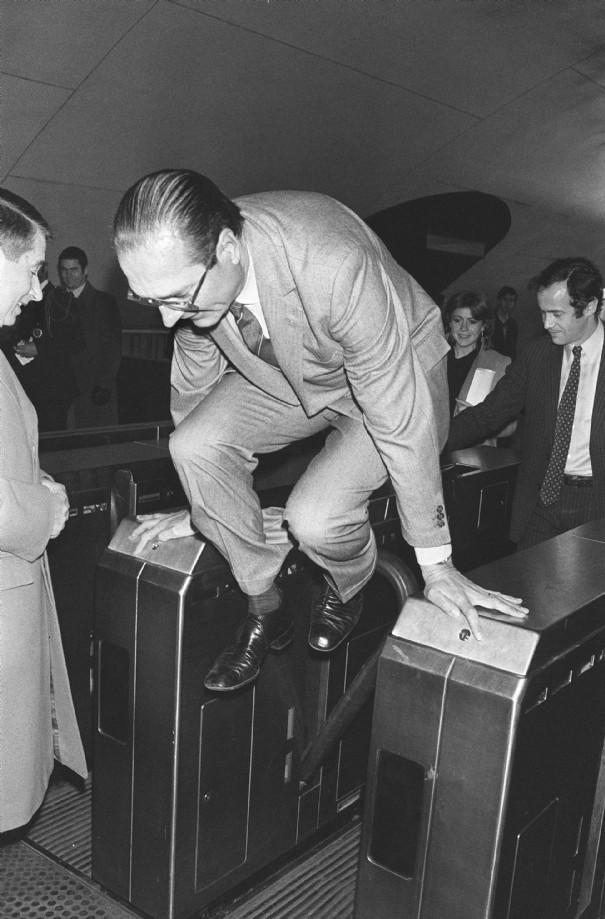 Chirac dans le métro