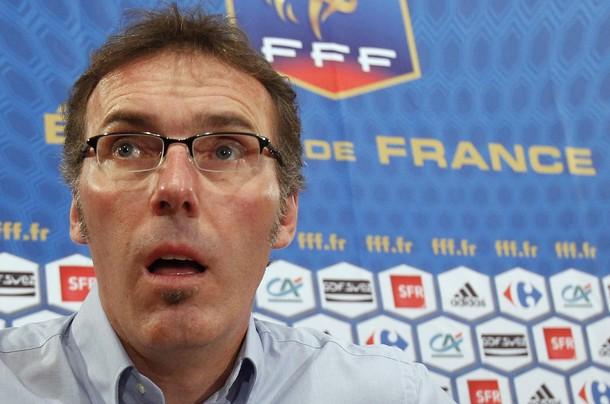 Laurent Blanc lors d'une conférence de presse à Paris