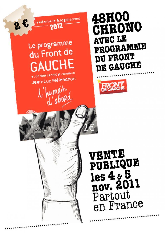 Affichette du front de gauche Janvier 2012