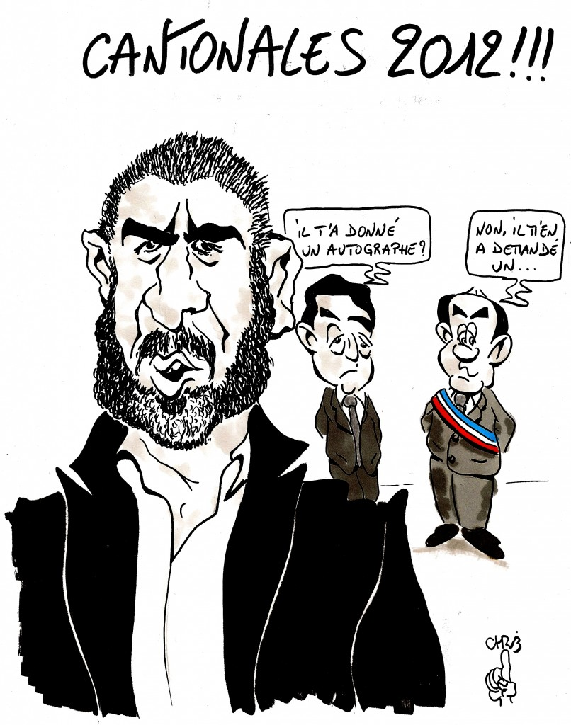 Caricature par Chrib pour le Nouvel Obs - Les Cantonales 2012