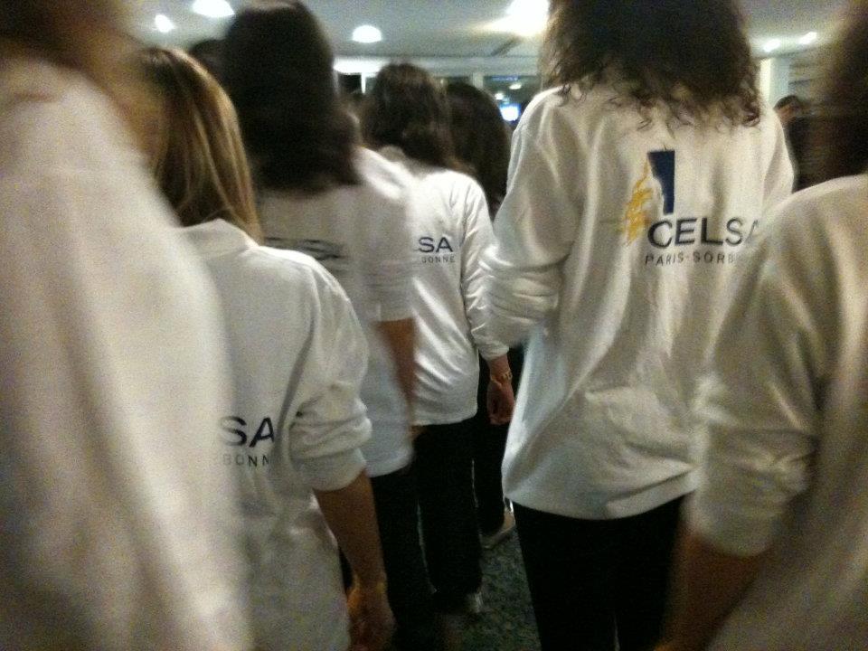 Etudiants de la junior communication du Celsa en 2011-2012