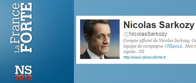 Le compte twitter de la campagne de Sarkozy en 2012