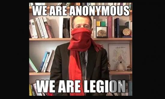Christophe Barbier contre les anonymous