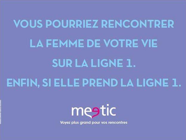 Meetic Affiche Metro Parisien Saint Valentin