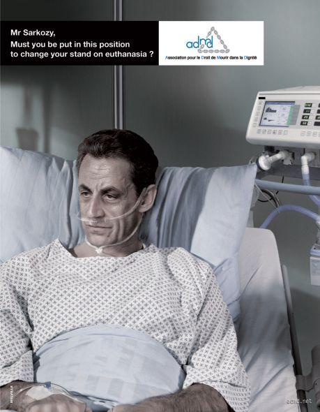 Campagne ADMD pour l'euthanasie avec Sarkozy mars 2012