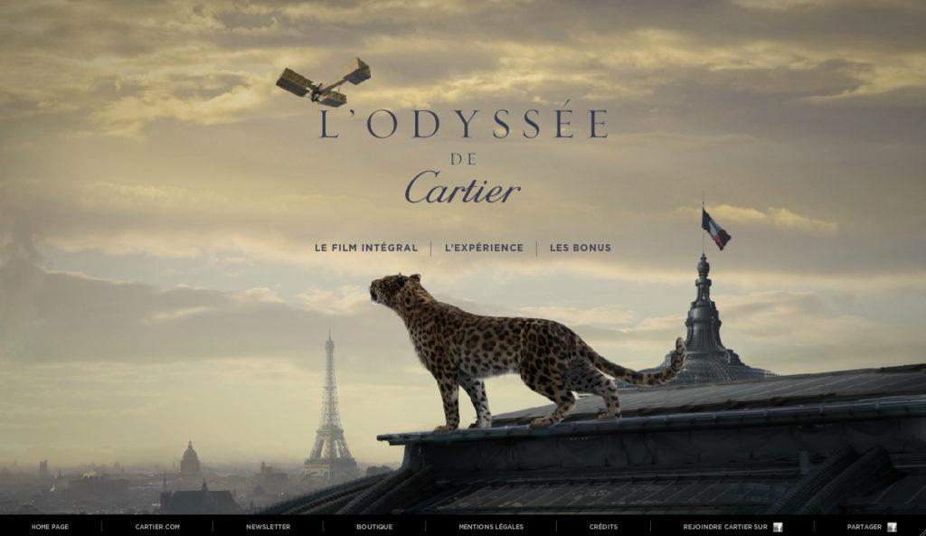 Le site de la campagne l'Odyssée de Cartier pour les 160 ans de la marque