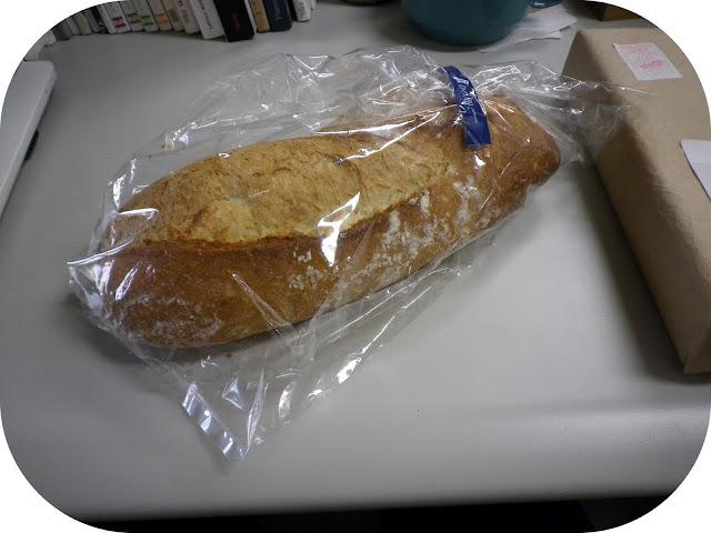 pain dans du plastique
