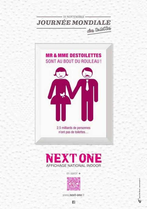 JM des toilettes, pub NextOne