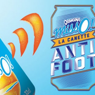 La canette Anti-Foot d'Orangina