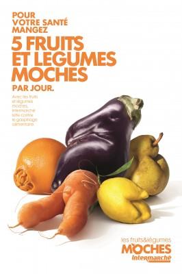 Cinq fruits et légumes moches