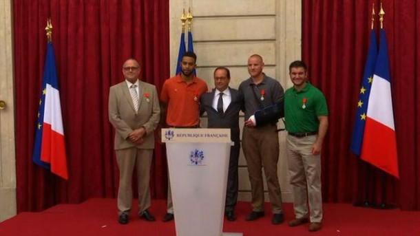 Légion d'honneur aux 4 héros du Thalys