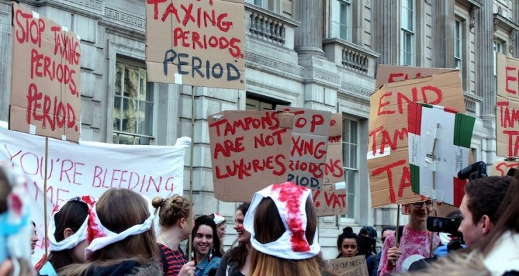 Manifestation anti-taxe Tampon