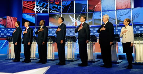 Débat des candidats républicains aux présidentielles à Las Vegas en 2011