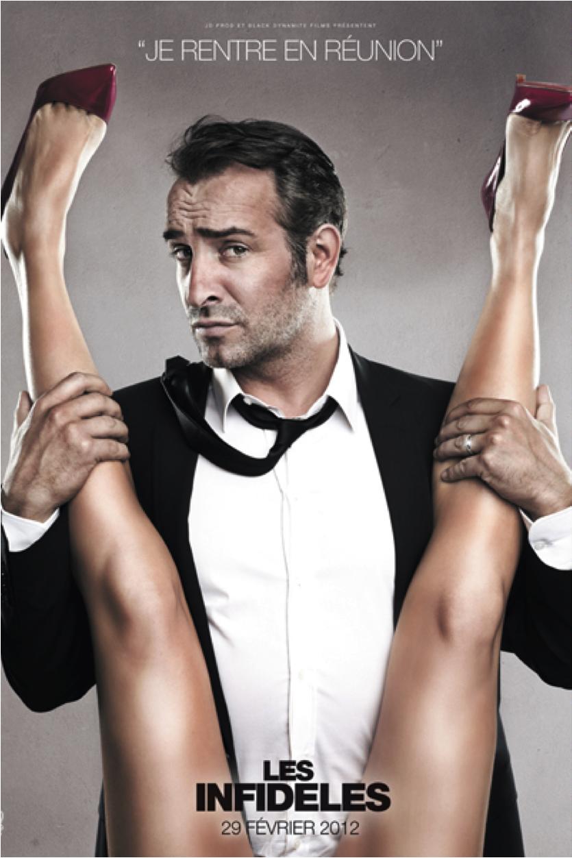 Affiche censurée du film Les Infidèles avec Dujardin sortie début 2012