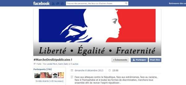 Page facebook Marche des républicains